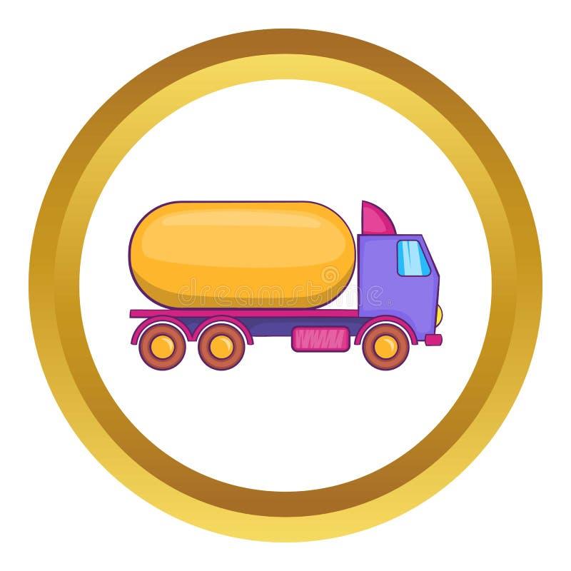 Ciężarówka niesie benzyna wektoru ikonę ilustracja wektor