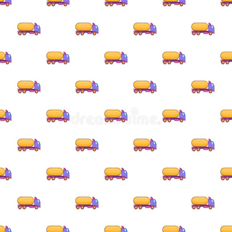 Ciężarówka niesie benzyna wzór, kreskówka styl royalty ilustracja
