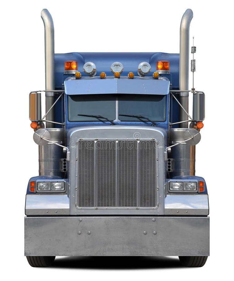 ciężarówka odizolowane białe z przodu zdjęcia royalty free