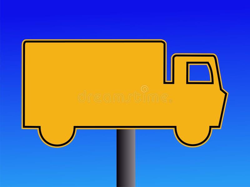 ciężarówka ostrzeżenie znak royalty ilustracja