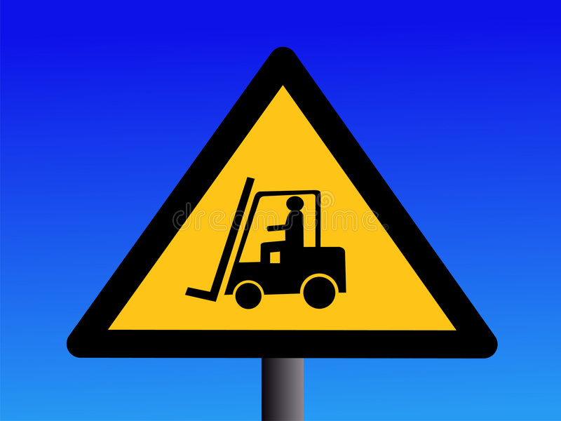 ciężarówka podnośnik znaku ilustracja wektor