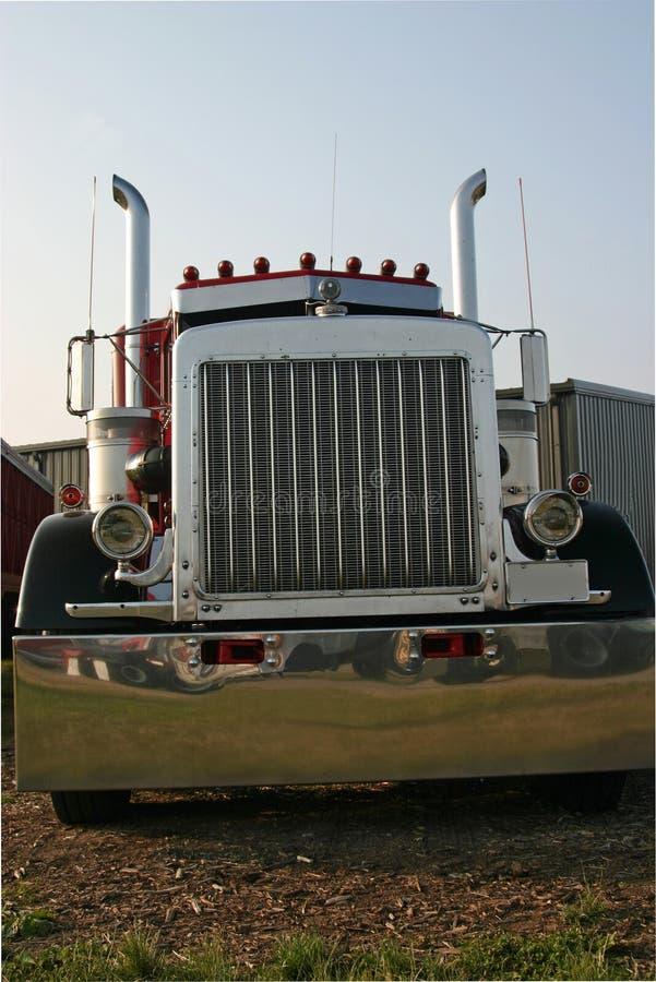 ciężarówka przednia widok fotografia stock