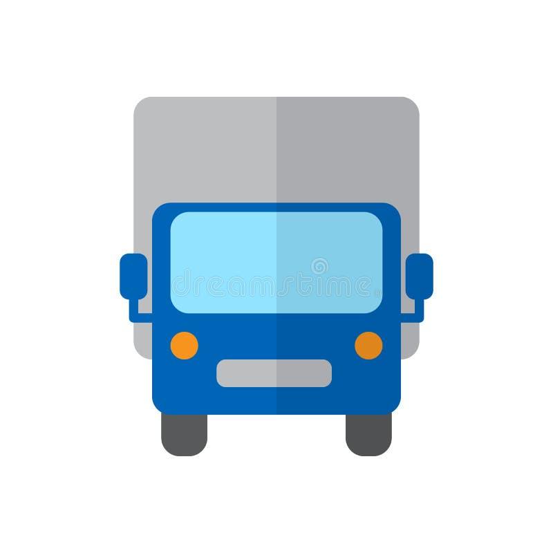 Ciężarówka, Wysyła ciężarową płaską ikonę, wypełniający wektoru znak, kolorowy piktogram odizolowywający na bielu ilustracja wektor