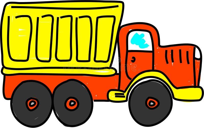 ciężarówka wysypisko ilustracja wektor