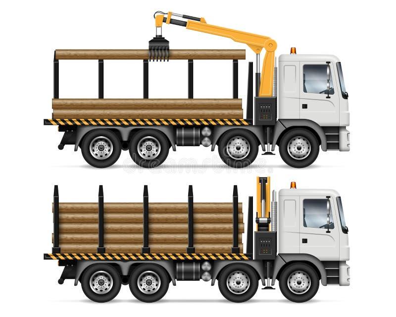 Ciężarówka z bela wektoru ilustracją royalty ilustracja