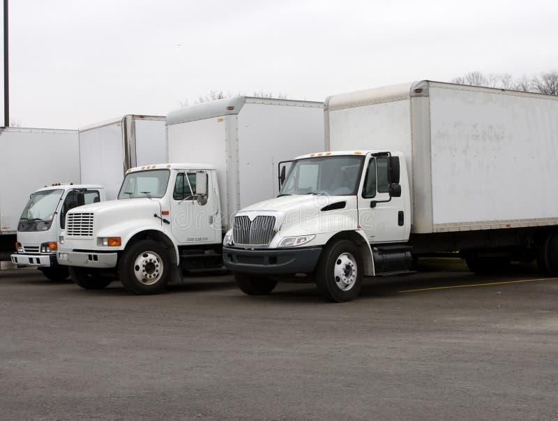ciężarówki doręczeniowe zdjęcie royalty free