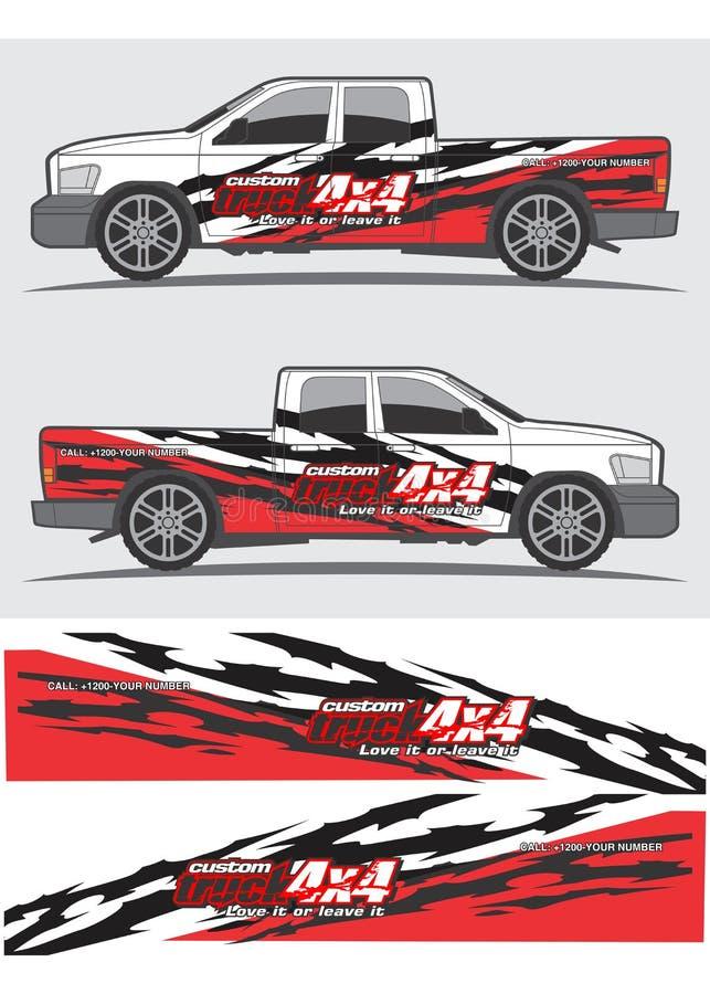 Ciężarówki i pojazdu decal Graficzny projekt ilustracji