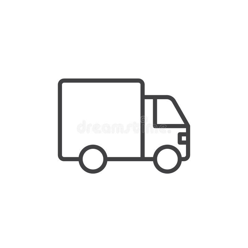 Ciężarówki kreskowa ikona ilustracja wektor
