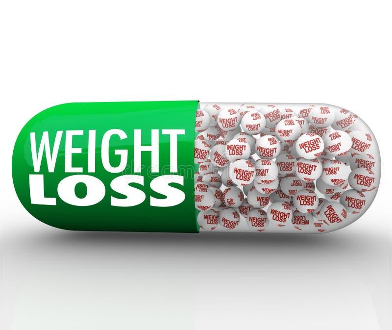 Ciężar straty medycyny kapsuły pigułki diety Medyczny nadprogram ilustracja wektor
