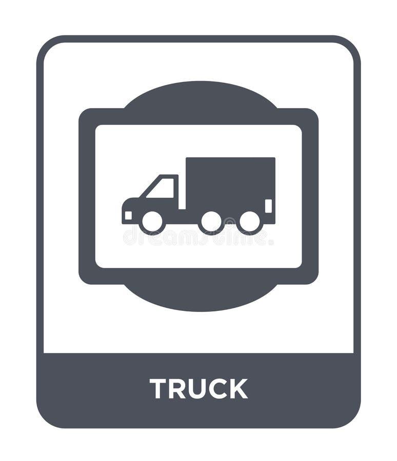 ciężarowa ikona w modnym projekta stylu Ciężarowa ikona odizolowywająca na białym tle ciężarowej wektorowej ikony prosty i nowoży royalty ilustracja