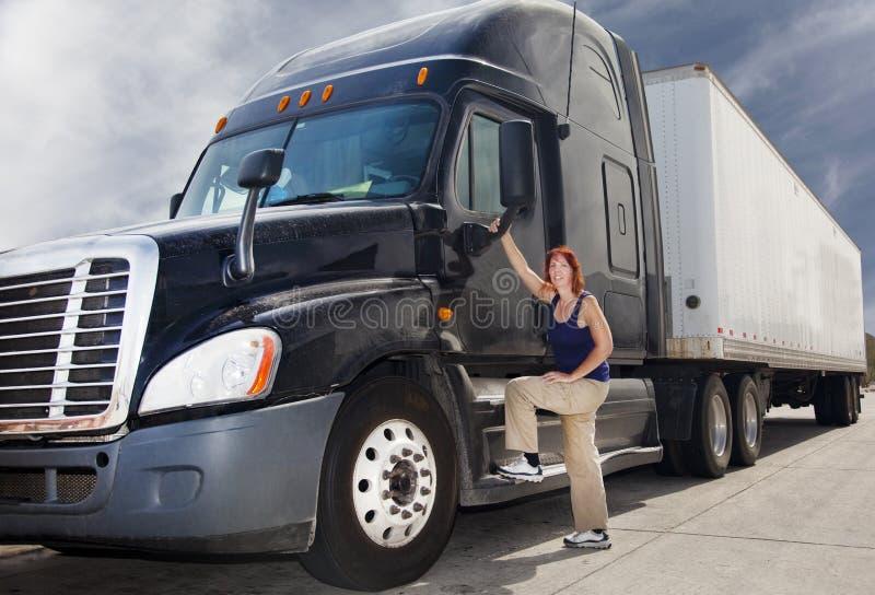 ciężarowa kierowca kobieta fotografia royalty free