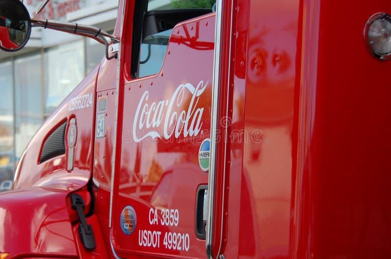 Ciężarowa koka-kola zdjęcie stock