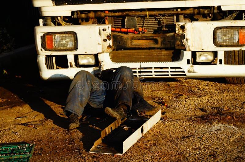 Ciężarowa naprawa obraz stock