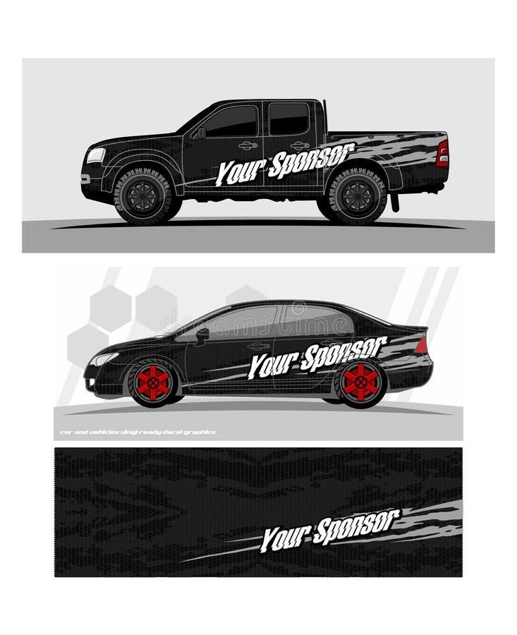 Ciężarowe grafika Pojazdy ściga się lampasa tło royalty ilustracja