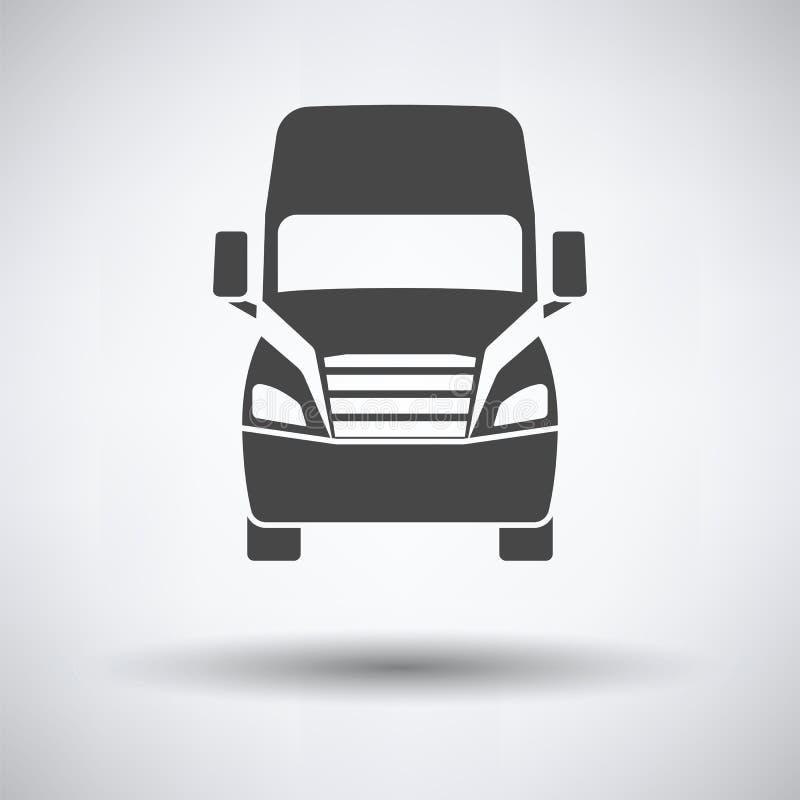 Ciężarowej ikony frontowy widok ilustracja wektor