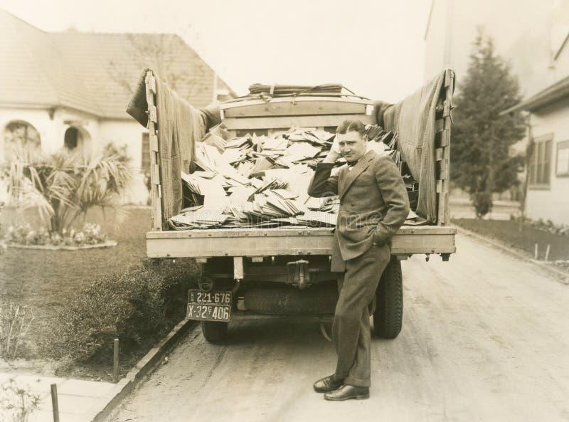 Ciężarowy ładunek poczta obrazy royalty free