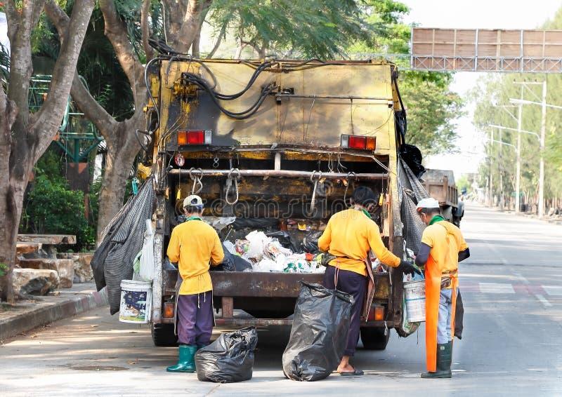 Ciężarowy śmieci zdjęcia stock