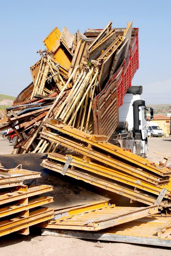 ciężarowy dżonka jard fotografia royalty free