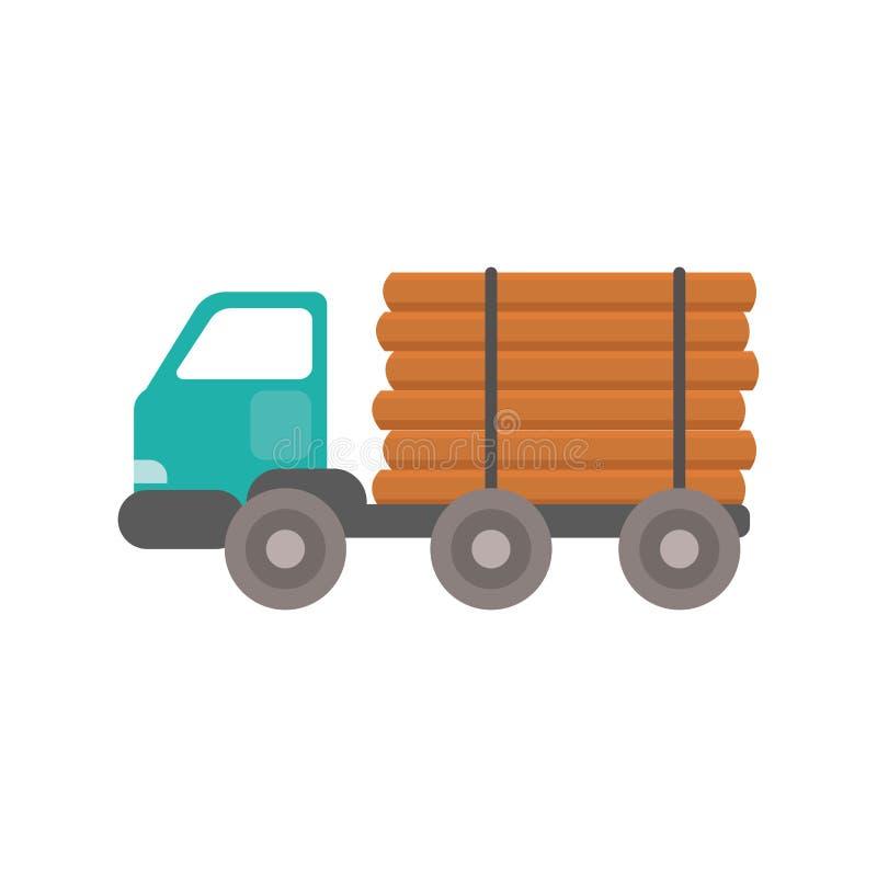 Ciężarowy drewniany transportu wektor ilustracji