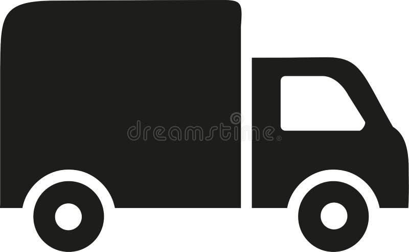 Ciężarowy ikona wektor royalty ilustracja