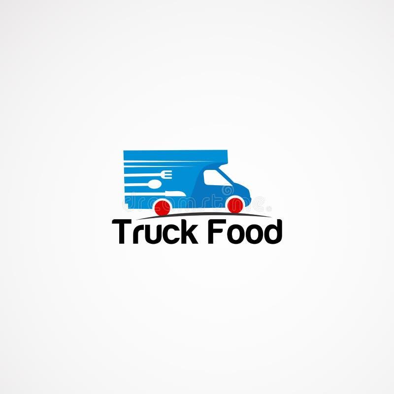 Ciężarowy karmowy logo projektów pojęcie, ikona, element i szablon dla firmy, ilustracji