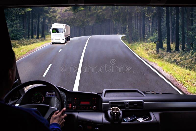Ciężarowy kokpit fotografia stock