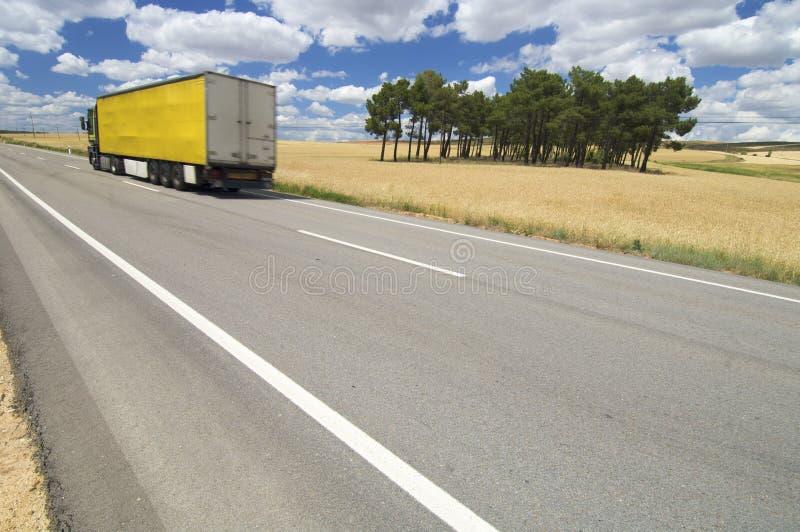 ciężarowy kolor żółty obraz stock