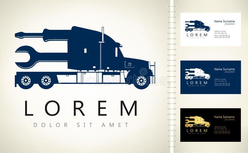 Ciężarowy logo ilustracji