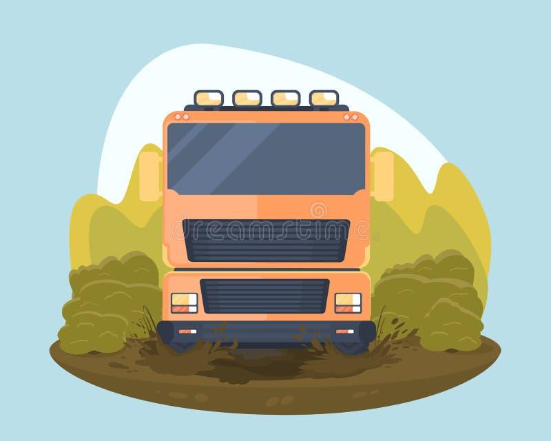 Ciężarowy próbny sporta wiec royalty ilustracja