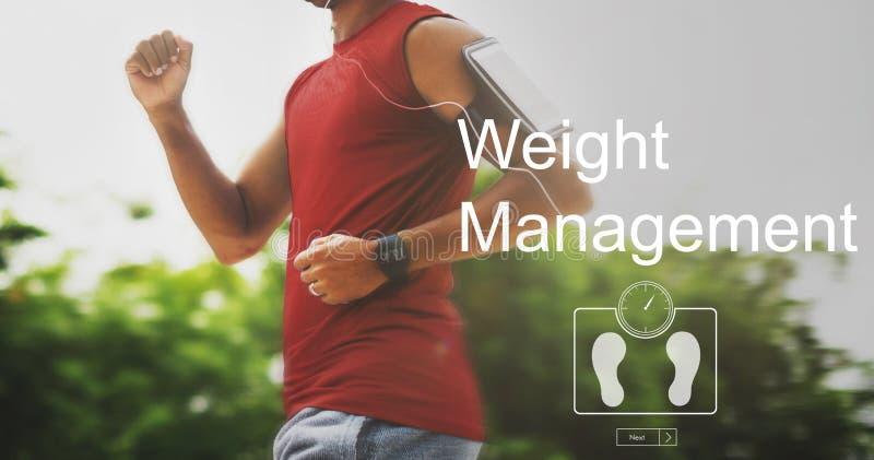 Ciężaru zarządzania ćwiczenia sprawności fizycznej opieki zdrowotnej pojęcie fotografia stock