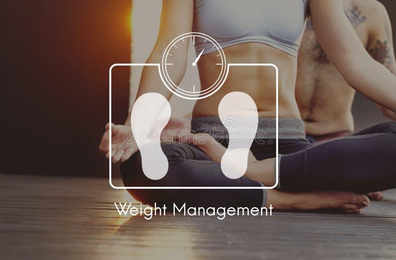Ciężaru zarządzania ćwiczenia sprawności fizycznej opieki zdrowotnej pojęcie obraz royalty free