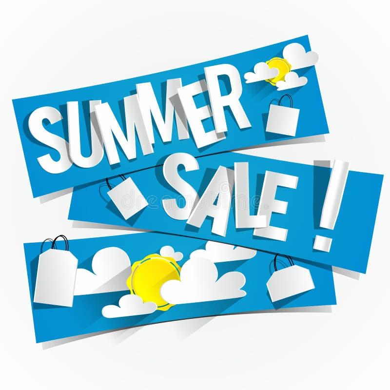 Ciężka Dyskontowa lato sprzedaż ilustracja wektor