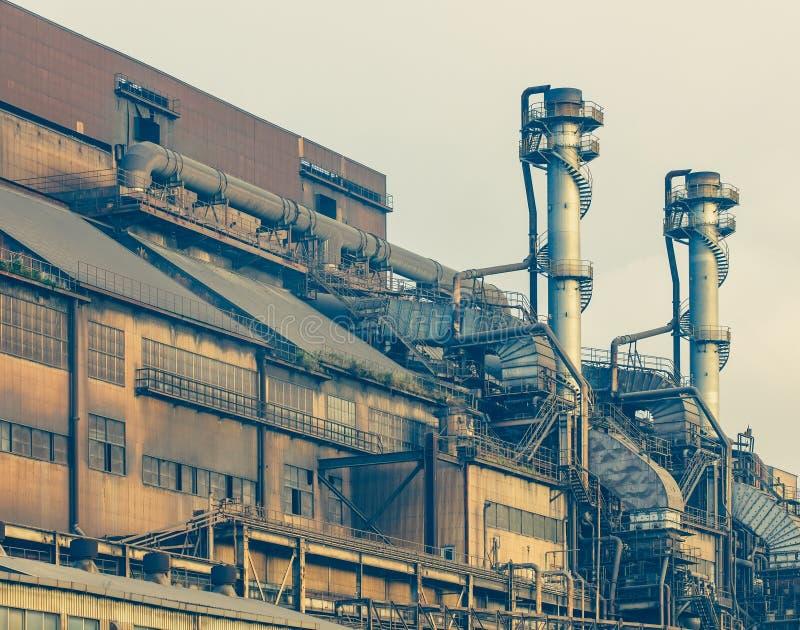 ciężka stalowego przemysłu fabryka obraz stock