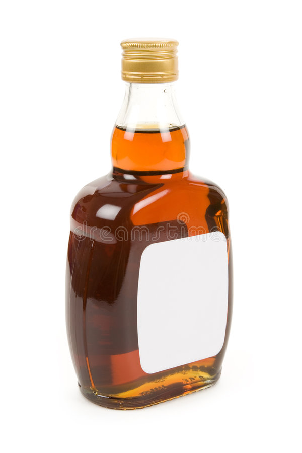 ciężki butelka trunek fotografia stock