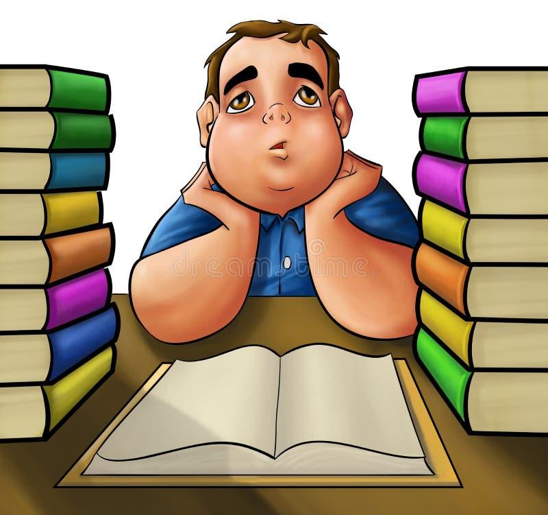 ciężki czytelnik ilustracja wektor