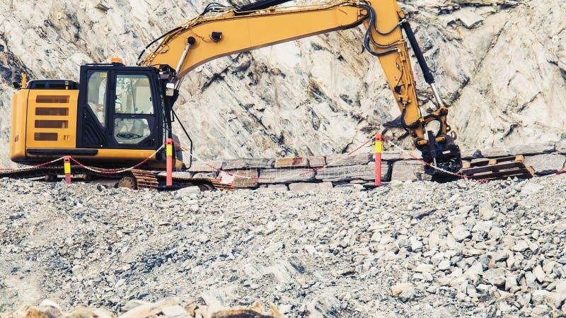 Ciężki maszynowy działanie na budowie, Norwegia obraz royalty free