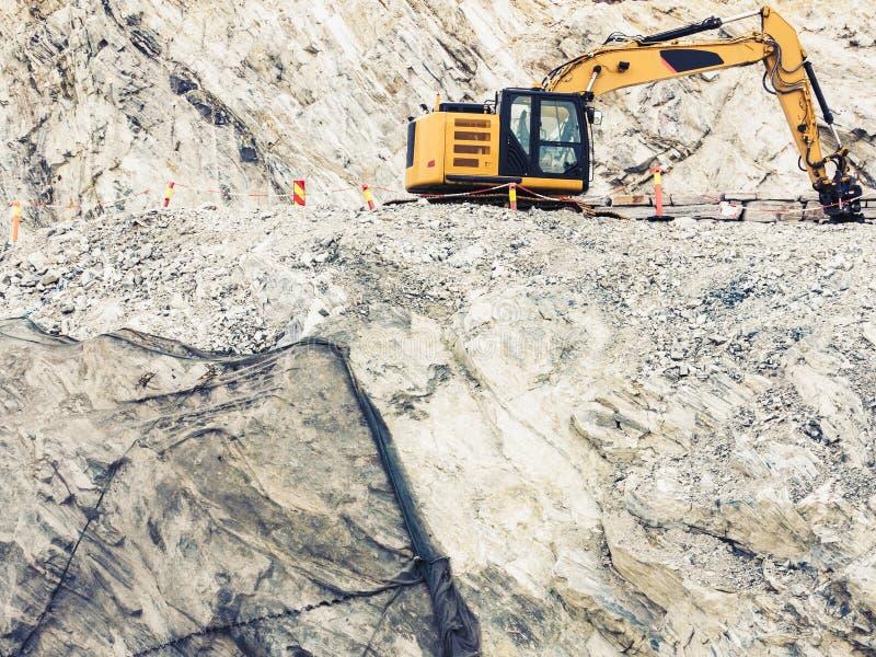 Ciężki maszynowy działanie na budowie, Norwegia fotografia royalty free