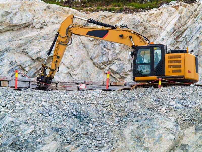 Ciężki maszynowy działanie na budowie, Norwegia zdjęcie royalty free