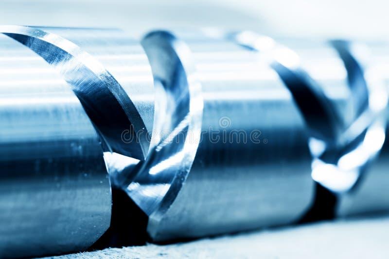 Ciężki przemysłowy element, śruba Przemysł, zakończenie zdjęcie royalty free