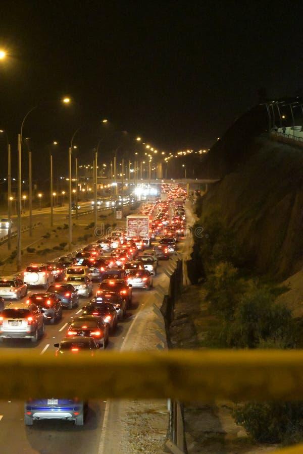 Ciężki ruch drogowy w San Miguel, Peru! obrazy royalty free