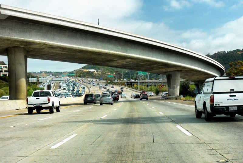 Ciężkiego ruchu drogowego autostrada międzystanowa, usa zdjęcie royalty free