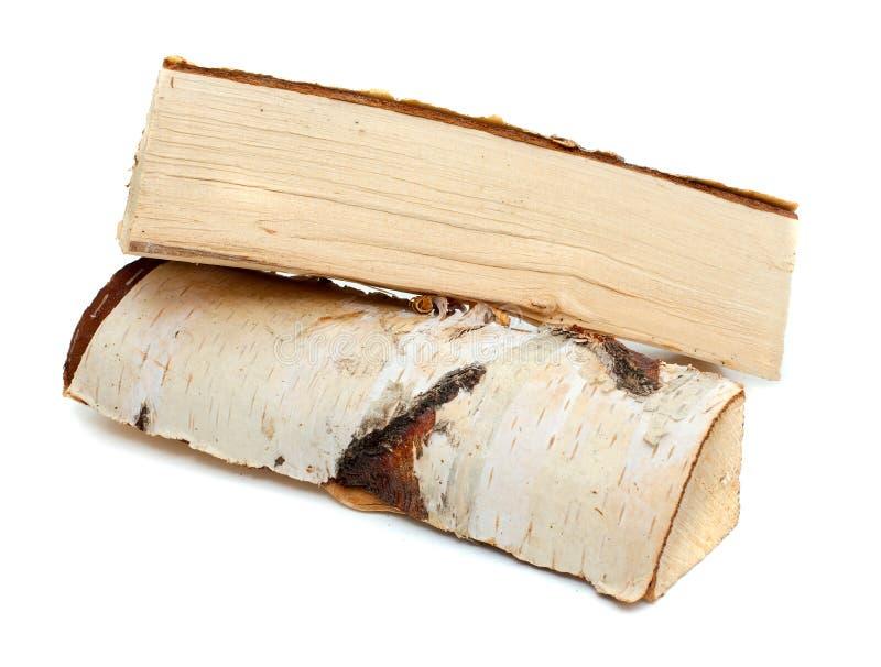 Cięcie bele pożarniczy drewno obraz royalty free