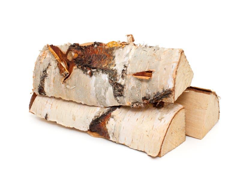Cięcie bele pożarniczy drewno fotografia stock