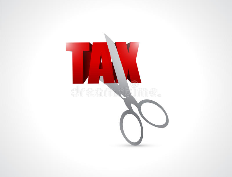 Cięcie opodatkowywa pojęcie ilustrację ilustracja wektor