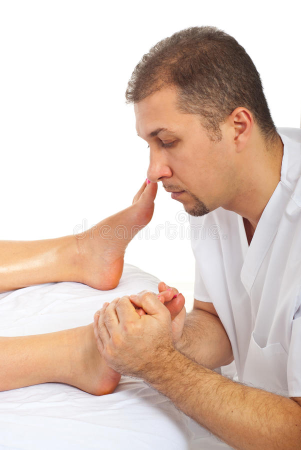 ciśnieniowy stopa terapeuta obrazy stock