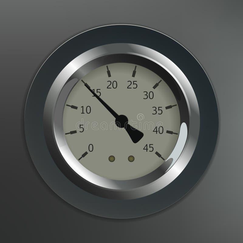 Ciśnieniowy wymiernik ilustracja wektor