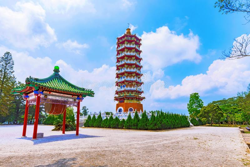 Ci`en Pagoda architecture. And courtyard with nature stock photos