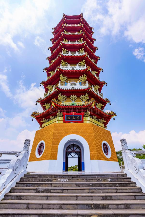 Ci`en Pagoda architecture. Ci`en Pagoda traditional Chinese architecture stock photo