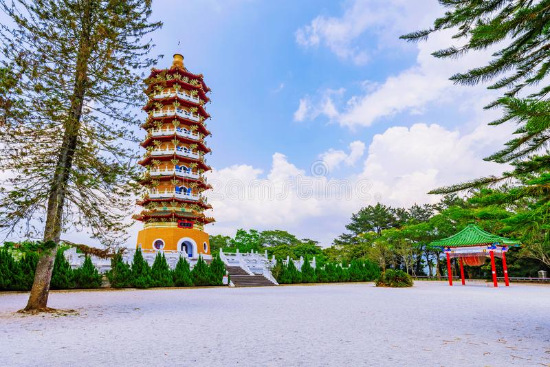 Ci`en Pagoda architecture. Ci`en Pagoda traditional architecture and nature stock photos