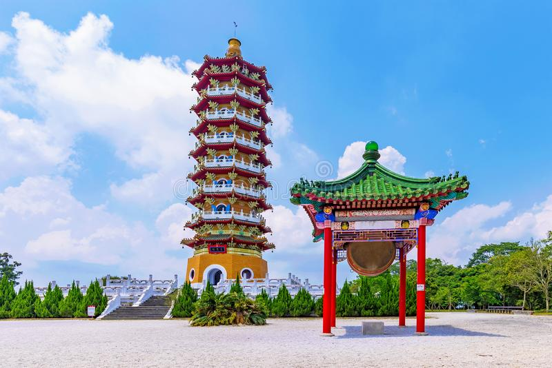 Ci`en Pagoda architecture. Ci`en Pagoda traditional architecture on a sunny day stock image